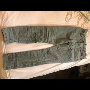 Green LOFT ankle jeans